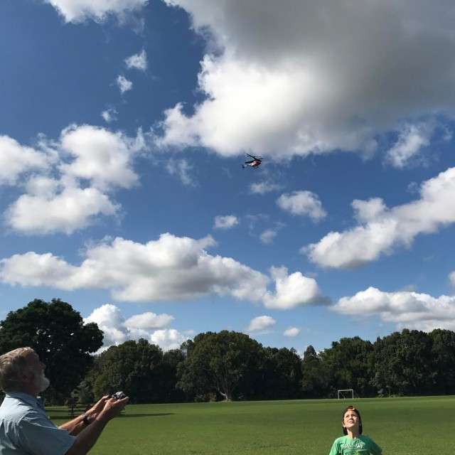 Helicopter flying practice adventure schoolholidays paradise play grateful