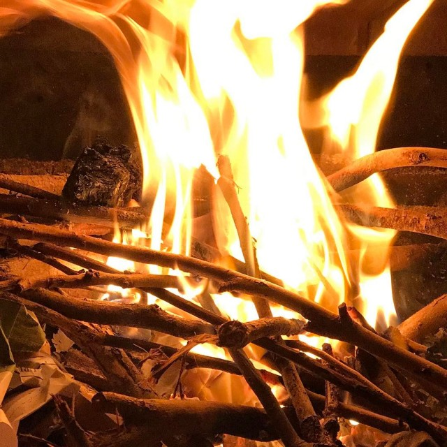 Hearth warming winteriscoming fire simpleluxury warmth spark joy life grateful