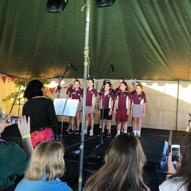 School choir performance at the Bellingen Show Thanks to rainyhellip