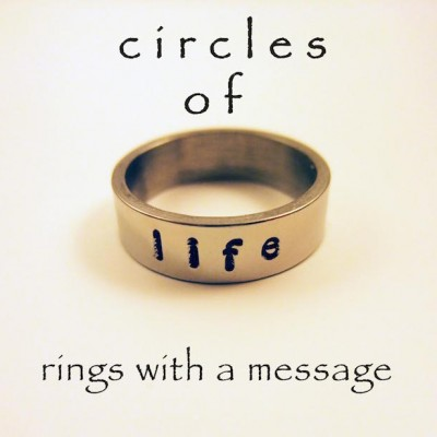 circles of life image rings with a message